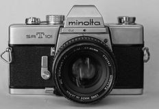 Minolta old school camera Stock Photography