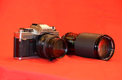 Minolta and visitor Royalty Free Stock Photography