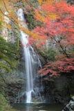Minoo Waterfall y Minoo Park en otoño fotos de archivo