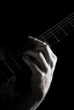Minor chord (Dm) stock photos