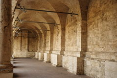 Minor cloister of San Francesco, Ascoli Piceno Stock Photography