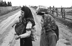 Minor Gypsy Beggars Stock Images