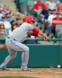 Minor league baseball - bunt Stock Images