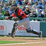 Minor League baseball catcher Stock Photo
