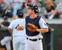 Minor league baseball - catcher Royalty Free Stock Images