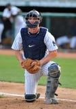 Minor league baseball - catcher Royalty Free Stock Photography