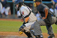 Minor League baseball - catcher Royalty Free Stock Photos
