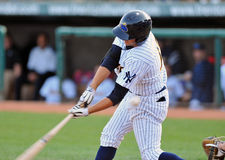 Minor league baseball - fouled off Stock Photos