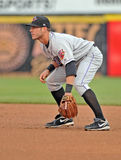 Minor League baseball - infielder defense Royalty Free Stock Image