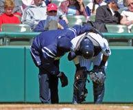 Minor league baseball injury Stock Images