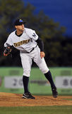 Minor League Baseball pitcher Royalty Free Stock Image