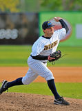 Minor league baseball - pitcher Royalty Free Stock Image