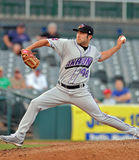 Minor League baseball - pitcher Stock Photos