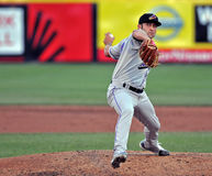 Minor League baseball - pitcher Stock Image