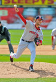 Minor League baseball pitcher - delivery Stock Images