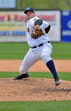 Minor League baseball pitcher - delivery Stock Photo