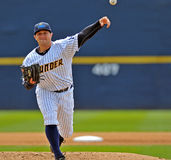 Minor League baseball pitcher - delivery Royalty Free Stock Photos