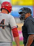 Minor league baseball - umpire argument Royalty Free Stock Photography