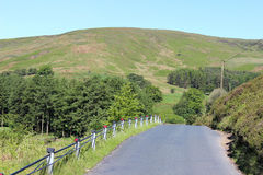 Minor road through Trough of Bowland, Lancashire. Looking west along the minor road that runs through the Trough of Bowland area of outstanding natural beauty in Stock Photos