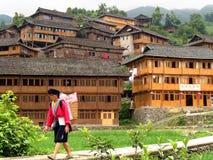 Minoranza etnica del Yao, Longsheng, Cina fotografia stock libera da diritti