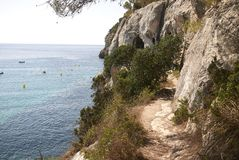 View of Cala Macarella royalty free stock photo