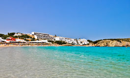 Minorca crystal clear water beach Stock Photos