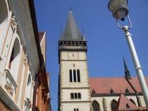 Minore della basilica in Bardejov Fotografia Stock