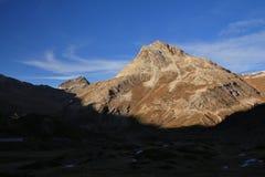Minore di Piz, montagna veduta dalla ferrovia di Bernina Immagine Stock Libera da Diritti