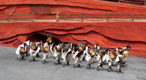 A minoria de Yunnan equipa Fotos de Stock Royalty Free