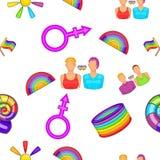 Minorias sexuais teste padrão, estilo dos desenhos animados Imagem de Stock