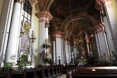 Minorita Church Indoor, Eger, Hungary Stock Image