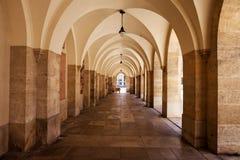 Minoritenkirche Arcade in Vienna. Austria, Vienna, arcade arches of Minoritenkirche - Minorites Church Royalty Free Stock Photography