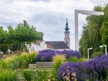 Minoritenkirche church in Tulln at the Danube River. Historic landmark and famous tourist destination in Lower Austria, Europe stock photo
