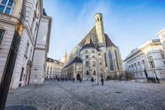 Minorites (Minoritenkirche)的教会在维也纳,奥地利 免版税库存照片