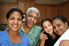 Minority Family Stock Image