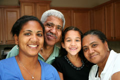 Minority Family Stock Photography