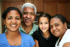Minority Family Stock Photo