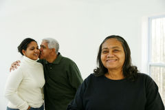 Minority Family Stock Image