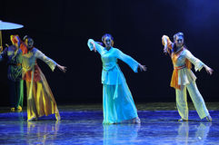 Minority girls-The dance drama The legend of the Condor Heroes Royalty Free Stock Photo