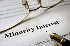 Minority interest. Royalty Free Stock Images