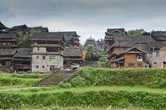 Minority village in China Royalty Free Stock Image