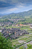 Minority village in China Royalty Free Stock Photo