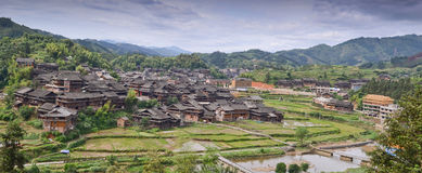 Minority village in China Stock Image