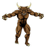 Minotaur bull scary sports mascot Stock Photography