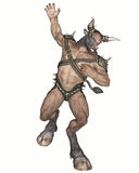 Minotaur. 3D rendered fantasy minotaur creature on white background isolated Royalty Free Stock Image