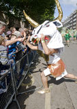 Minotaur Dancer from the London School of Samba Royalty Free Stock Photo