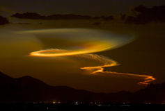 Minotaur Flugprodukteinführung am Sonnenuntergang Lizenzfreie Stockfotografie