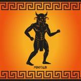 Minotaur. Mythological creature. Myths of ancient Greece. Vector illustration royalty free illustration