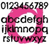 Minúscula completa de la letra del alfabeto de la fuente del Grunge Imagen de archivo libre de regalías