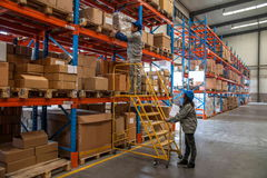 Minsheng Logistics, Chongqing, Hebei Branch Auto Parts Warehouse Stock Images